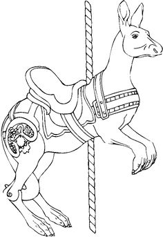 Andy Foxs Carousel Animals No Horses Allowed Horse Coloring PagesABC