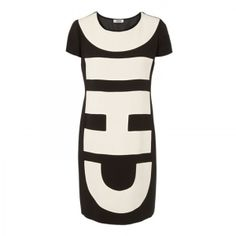 Moschino cheap and chic color block dress