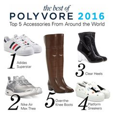 """""""Top 5 Accessories From Around the World"""" by polyvore ❤ liked on Polyvore featuring adidas Originals, NIKE, Steve Madden, Joshua's and Frye"""