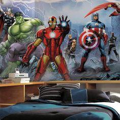 #Marvel Avengers Assemble Removable Wallpaper Mural #affiliate