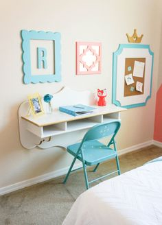 Sweet Desk Area in a big girl's room