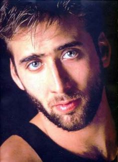 Nicolas Cage's career is a beautiful car wreck. It started off fast and wild, careening from weird to weirder. No matter how bad some of those early movies were he was always so brilliant … Nicolas Cage, Behind Blue Eyes, Movie Marathon, Actrices Hollywood, Celebs, Celebrities, Good Looking Men, Famous Faces, Hollywood Stars