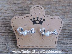 Silver Love Pearl Earrings