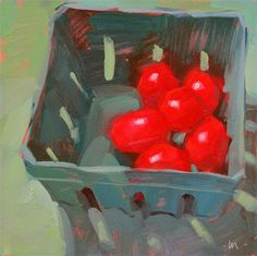 "Daily Paintworks - ""Farmers Market Tomatoes"" by Carol Marine"