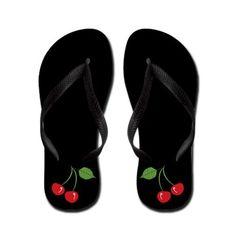 Cut cherry flip flops...