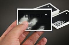 Unique Business Cards: Thermal ink business cards.