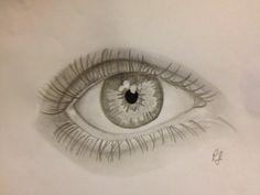 Basic eye pencil sketch.