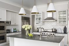 White Kitchen by Wendy Labrum Interiors, LLC. #wendylabruminteriors #practicalstyle #tangibledesign