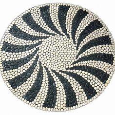 The Swing Rug pebble tile Mosaic Rocks, Pebble Mosaic, Mosaic Diy, Mosaic Garden, Stone Mosaic, Pebble Art, Mosaic Glass, Mosaic Tiles, Stone Rug