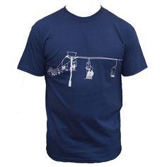 Ski lift print T shirt