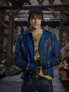 """New charcter posters for Descendants 2 have been released. These posters feature Descendants alumnus, Mitchell Hope and newcomers Thomas Doherty and Dylan Playfair. """"In Descendants the sto… Descendants Mitchell Hope, Descendants Mal And Ben, Descendants Characters, Disney Channel Descendants, Descendants Costumes, Descendants Cast, Disney Characters, Cameron Boyce, Isle Of The Lost"""