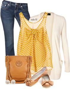 Era uma blusa branca de bolinha amarelinha...(ou seria o contrário?) :P