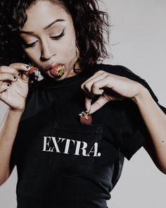 Liza Koshy and strawberries