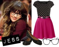 """""""New Girl - Jess!"""" by tyraamail ❤ liked on Polyvore"""