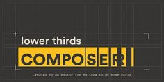 Lower Thirds Composer After Effects Script by Accountable-Videos Sorry for the long wait, we finally found a way to solve our problems here: everything was caused by using flash player: we were u After Effects Intro Templates, After Effects Projects, Layout Design, Icon Design, Lower Thirds, Logo Reveal, Script, Infographic, In This Moment