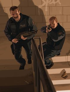 View an image titled 'Police Art' in our Grand Theft Auto IV art gallery featuring official character designs, concept art, and promo pictures. Grand Theft Auto 4, Grand Theft Auto Series, Gta 5, Morning Memes, City Gallery, Rockstar Games, Gta Online, San Andreas, Gotham City