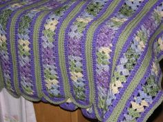 "A Purple mile a minute afghan I made for Sydney my girlfriend.  ❤¸.•*""""*•.¸❤"