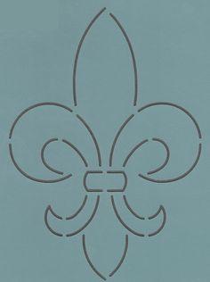 """Fleur-De-Lis 5"""" - The Stencil Company"""