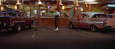 American Graffiti, Classic Films, Classic Cars, Pontiac Star Chief, Vintage Year, San Francisco Restaurants, Places In California, Chevrolet Bel Air, 1955 Chevrolet
