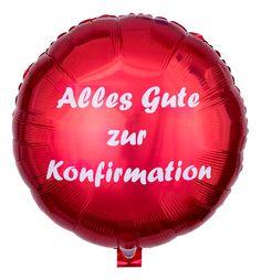 Roter Folienballon Alles Gute zur Konfirmation