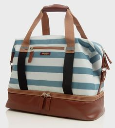 Midway Weekender Bag, Blue Stripe by Po Campo on Scoutmob Shoppe