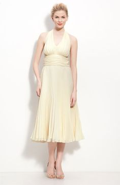 Donna Morgan has a line of Bridesmaid dresses that are all the same fabric. They have a bunch of different cuts and colors, so if you wanted the bridesmaids to jam with their own thing you could have people pick their own color/style. They also have several styles in champagne. I'll email you a pic.