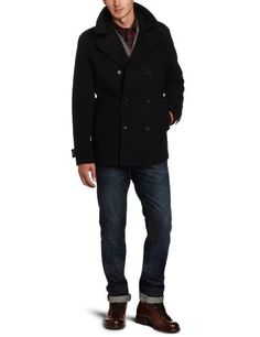 Calvin Klein Sportswear Men's Melton Wool Basic Peacoat - List price: $228.00 Price: $60.59 + Free Shipping