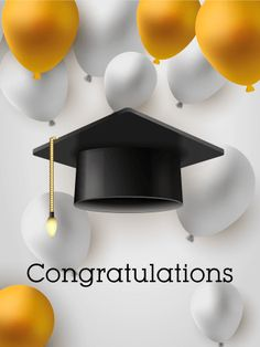 Let's celebrate! Graduation Card: Graduations are one of the most exciting events in a young person's life. If you know someone who is graduating from high school or college, send them this graduation card to celebrate their accomplishments!