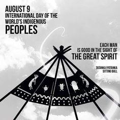 "August 9  International Day of the World's Indigenous Peoples ""Each man is good in the sight of the Great Spirit"" -Sitting Bull- #WeAreKa #Kaestudios #Lamagiasetomasantamarta #samarios #SantaMarta"
