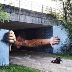 Illusion street art, artiste pas inconnu