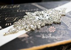 Bridal Sash  ALEXA Crystal Rhinestone Bridal Belt Beaded Sash. $165.00, via Etsy.