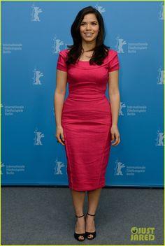 America Ferrera, in Nicole Miller, Promotes 'Cesar Chavez' at Berlin Film Festival | america ferrera promotes cesar chavez at berlin film festival 05 - Photo