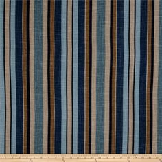 Could look good on back of chairs and on oak seats in kitchen. This is part of Jaclyn Smith's Trend collection Lagoon colorway. Screen printed on a linen/rayon blend this medium/heavyweight fabric is very versatile and perfect for window treatments (draperies, valances, curtains, and swags), toss pillows and upholstery. Colors include navy, blue, teal blue, tan and khaki. This fabric has 36,000 double rubs.