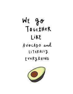 health and fitness quotes, love quotes, avocado quotes Avocado Puns, Cute Avocado, Avocado Art, Avocado Guacamole, Words Quotes, Me Quotes, Funny Quotes, Sayings, Funny Memes