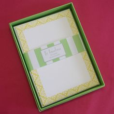 I'm selling Flat Notecards - Yellow Lace - box of 10 - A$8.00 #onselz