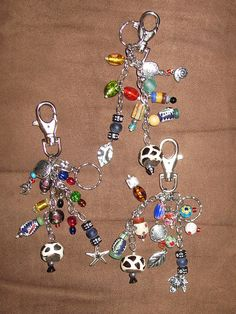the easiest to make were key chain/bag charms. My friends said these made it easy for them to find their keys.