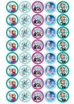 Imprimibles Candy bar de cumpleaños Frozen   Decorar en familia   DEF Deco