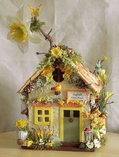 Jardín De Hadas Miniatura muñeca casa Narciso Flor Casa De Hadas Para Primavera Verano