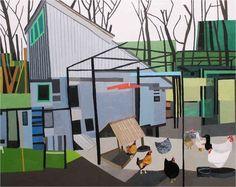 Backyard Barn, Jonas Wood