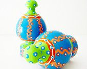 Colorful Finial Set for Curtains & Home Decor in Bright Colors Chartreuse Ornaments Drawer Pulls Knobs Wall Hooks