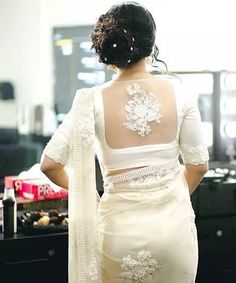 30 Latest Blouse Back Neck Designs In 2019 Blouse Back Neck Designs, Blouse Designs, Saree Jackets, Sari Blouse, 30th, Sarees, Wedding Planner, Neckline, Satin