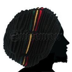 Rasta Dread Dreadlocks Tams Hat Beret Hippie Cap Reggae Marley Jamaica L/XL Fit