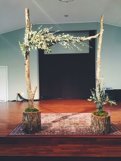 DIY Arbor for wedding by Nicole Marilyn