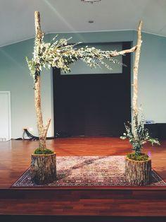 DIY Arbor for wedding by Nicole Marilyn