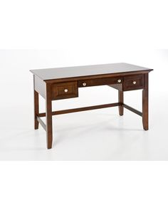 Oslo desk in walnut finish - perfect study space for your student! Great furniture on WeirsFurniture.com! Dallas, Plano, Southlake & Farmers Branch  Texas