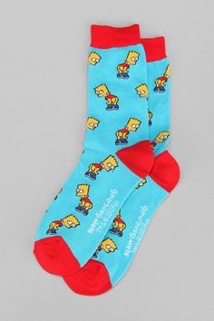 Bart Mooning Sock #urbanoutfitters For the kid in me : )