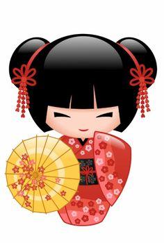 Red Sakura Kokeshi Doll - Japanese Geisha Girl Poster - decor gifts diy home & living cyo giftidea Japanese Geisha, Japanese Paper, Kokeshi Tattoo, Geisha Art, Girl Posters, Sakura, Art Japonais, Asian Doll, Kokeshi Dolls