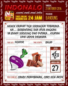 Tafsir Shio Togel Online Live Draw 4D Indonalo Bandung 21 Oktober 2016