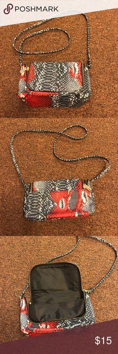 H&M snakeskin bag Crossbody snakeskin bag. Blue, white, red H&M Bags Crossbody Bags