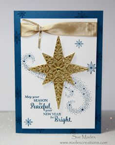 Star Of Light Card - Sue Madex: Stampin Up Demonstrator Australia